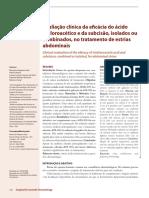Avaliacao Clinica Da Eficacia Do Acido Tricloroacetico e Da Subcisao Isolados Ou Combinados No Tratamento de Estrias Abdominais
