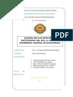 plan estratégico institucional unh