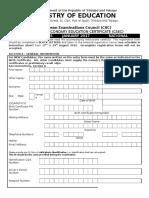 CSEC January 2017 Registration Form T&T National