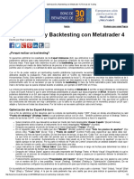 Optimización y Backtesting Con Metatrader 4