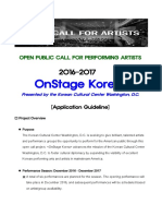 2016-2017 OnStage Korea Guidline English