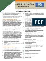 Policy Brief - 2. PINA Ley de Proteccion Integral-Guatemala 10.15