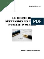 Droit de Succession en Droit Positif Ivoirien