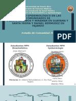 ESTUDIO EPIDEMIOLÓGICO EN LAS COMUNIDADES DE PUENTE DE JOBOS Y MIRAMAR EN GUAYAMA Y  SANTA ISIDRA Y RAFAEL BERMÚDEZ EN FAJARDO