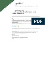 Etnografica 828 Vol 15 1 Policia e Violencia Urbana Em Uma Cidade Brasileira