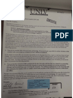 11 27 01 UNLV Clears Coughlin of Tratos Academic Fraud Charge, Letter of Warning Relative to Other Charge Printed