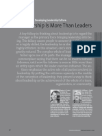 Developing an Leadership Cultre