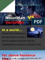 nounman vs verbman  parts of speech comic book   1