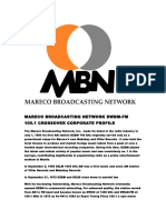 Mareco Broadcasting Network DWBM-FM 105.1 Crossover Corporate Profile