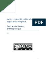 Nation, identité nationale et espace du religieux
