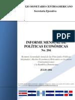 Politica Económica Regional Julio2016