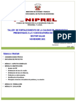 Taller Fortalecimiento Foniprel 2011 Salud