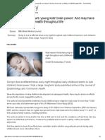 irregular bedtimes curb your brain power