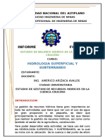 Estudio de Gestion de Recursos Hidricos en La Cuenca Crucero