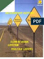 Soneri Bank Internship Report-2009