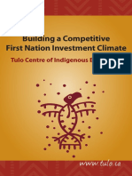 Tulo Centre of Indigenous Economics - Building a Competitive First Nation Investment Climate - Dec 2014