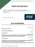 A Pesquisa de Aula Como Ferramenta Para o Desenvolvimento Profissional de Professores de Inglês Da Escola Pública de Santarém-pa - V Seminário de Pós-graduação - Ufopa - Desafios Da Pós-graduação Na Amazônia