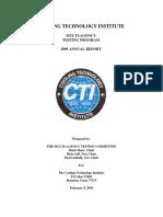 2009CTIMulti-AgencyTestingAnnualReport02-10