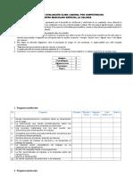 Encuesta de Evaluación de Clima Laboral