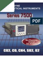 Analisador de CO e CO2 Infravermelho Modelo 75001