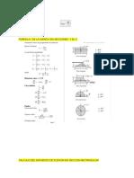 Formula de La Inercia en Secciones y El c