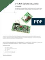 Comunicación Por Radiofrecuencia Con Arduino
