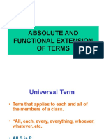 Absolute and Functional Extension of Terms
