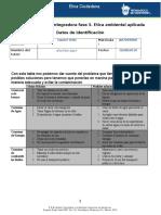 MV-U2- Actividad Integradora Fase 3. Ética Ambiental Aplicada