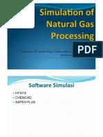 Simulation of Natural Gas Processing