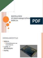 Refranes Puertoriqueños y La Biblia