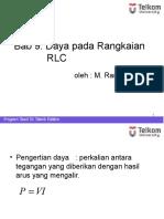 9. Daya Pada Rangkaian RLC
