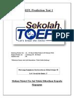 TOEFL Prediction Test 1