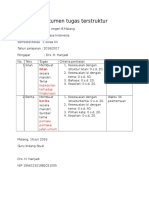 Dokumen tugas terstruktur
