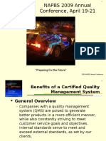 Benefits of a Quality Management System - NAPBS 2009 Annual Conference