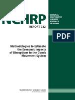 Methodologies to Estimate the Economic Impacts of Disruptions