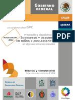 GPC Evidencias Recomendaciones Sobrepeso Obesidad Niños Adolescentes 2012