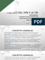 Cálculo Del VPN y La Tir