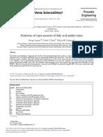 Prediction of Vapor Pressure of Fatty Acid Methyl Esters