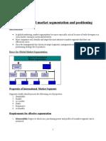 Segmentation and Positioning