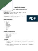 Method Statement Soft Landscaping Works DP 2