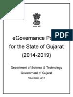 Final Gujarat Egovernance Policy