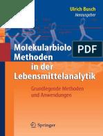 [Spr.] Busch, Molekularbiologische Methoden in Der Lebensmittelanalytik (2010)