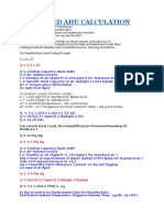 Precooled Ahu Calculation