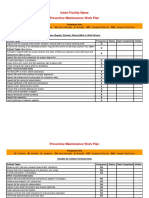 Facility Preventive Maintenance Schedule Template Printable PDF