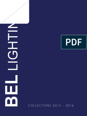 Bel Lighting Catalogue 2015 2016 Without Prices Low