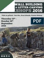 Féile na gCloch in Inis Oírr, brochure