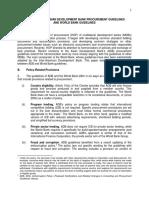 Comparison of Asian Development Bank Procurement