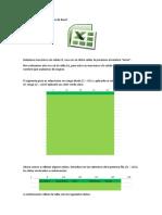 Utilización de Microsoft Excel