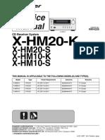 Pioneer X-hm10 X-hm20 Sm