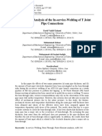 Finite Element Analysis of the in-service-Welding of T Joint Pipe Connection